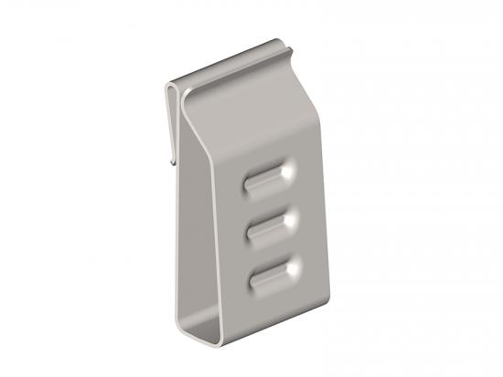 Solar panel exclusion cable clips