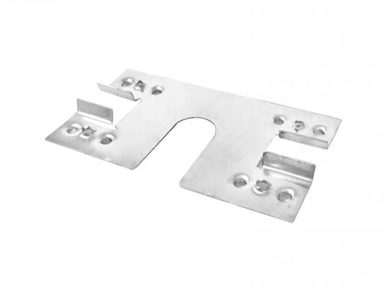 Ground earthing clip for solar panel brackets