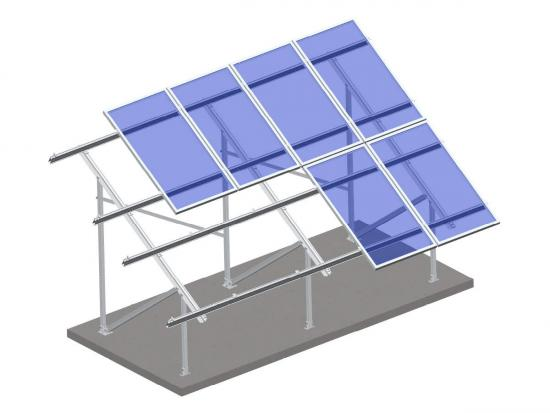 Aluminum solar ground mount