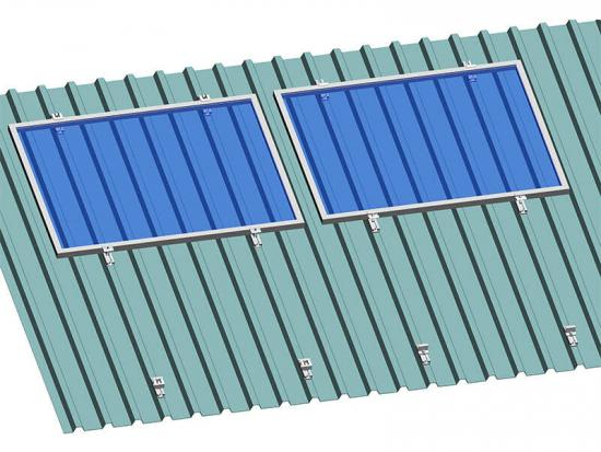 Railless solar mounting to support panels