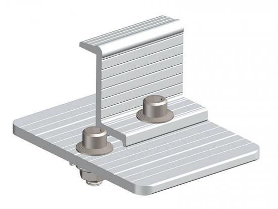 Solar panel rail bracket clamps for ground mounted array