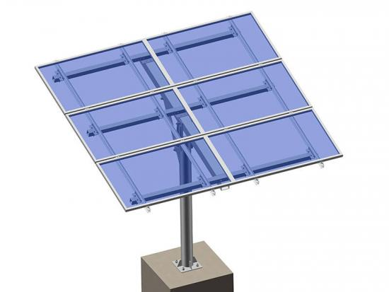 Ground solar panel pole mount racking