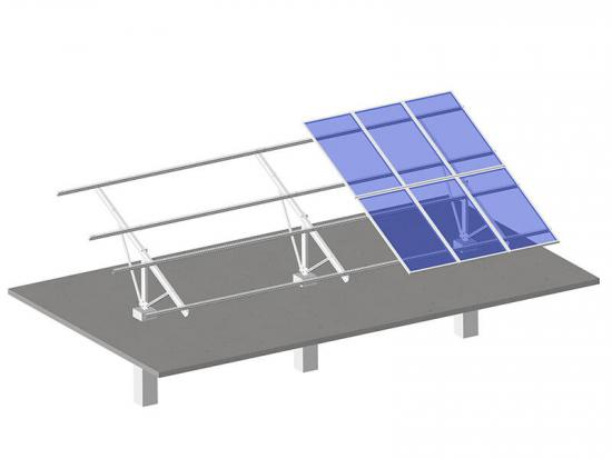 U shape steel bar solar panel mounting racking system