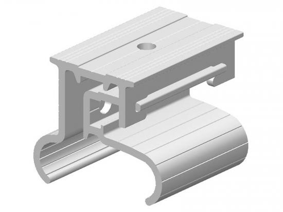 Railless solar panel roof mounting clamps