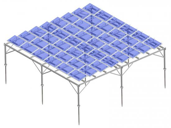 Aluminum agricultural farm solar mounting system