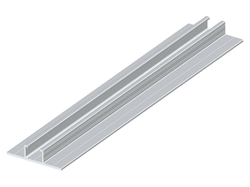 Mini rail for solar roof mounting DR07#