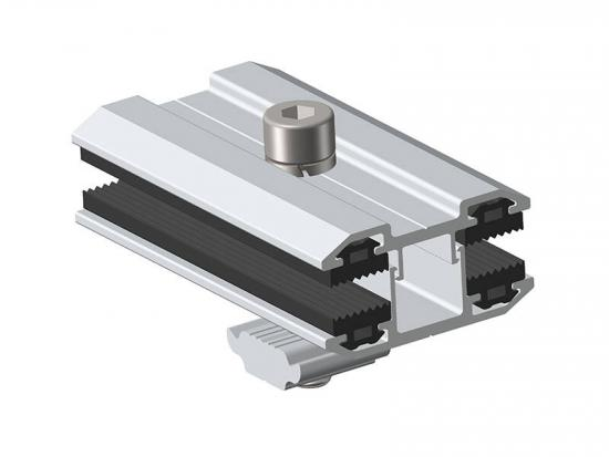 Solar panel mounting system frameless module clamps
