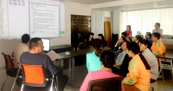A regular safety learning training meeting held on Mar. 29th