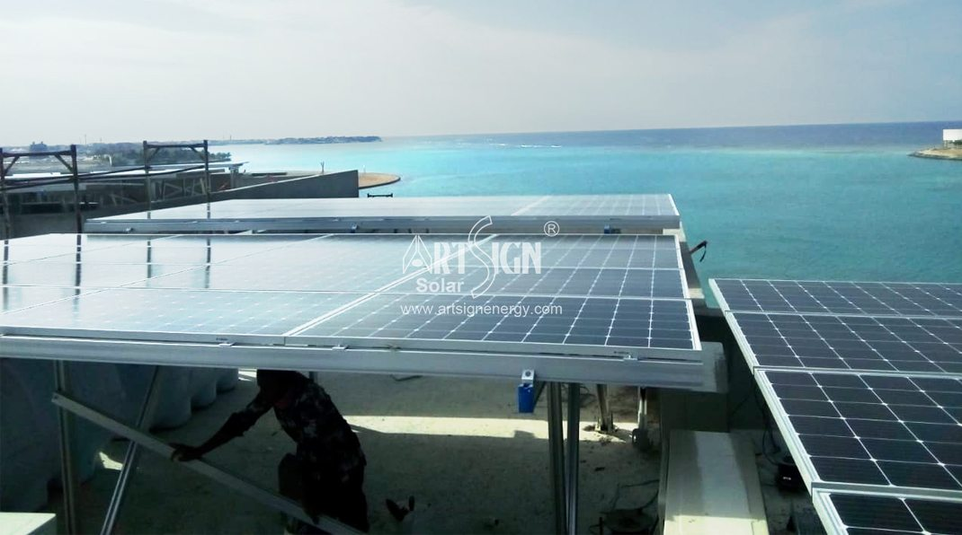 Solar aluminum ground mounting system is strong and antirust.